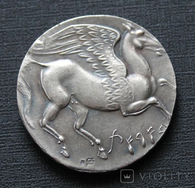 Карфагенская монета времён 1-й Пунической войны с изображением Пегаса (копия), фото №4