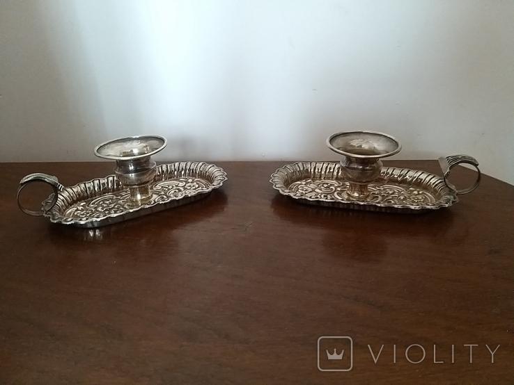 Серебряные подсвечники 925 проба, фото №2