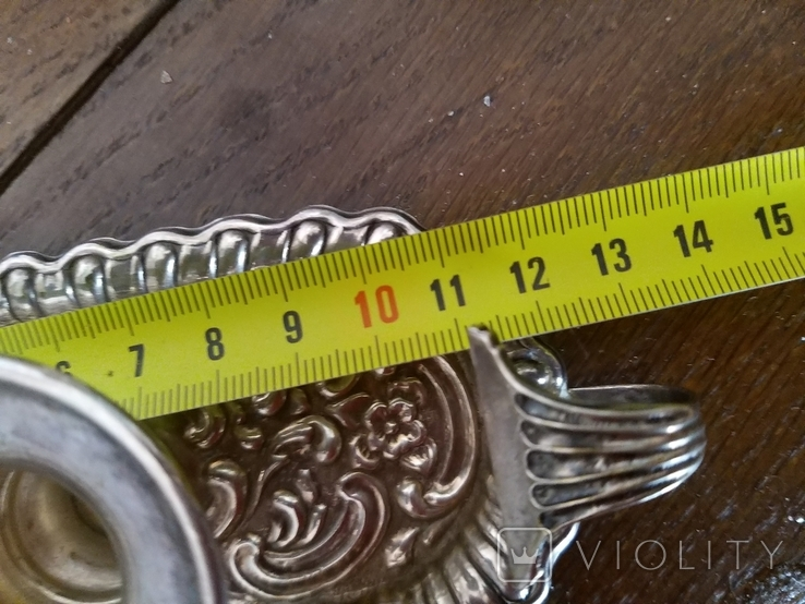 Серебряные подсвечники 925 проба, фото №8