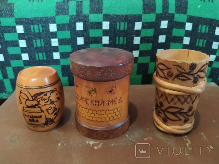Боченки для меда и деревянная чашка., фото №2