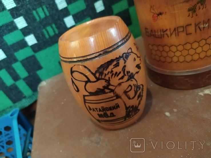 Боченки для меда и деревянная чашка., фото №6