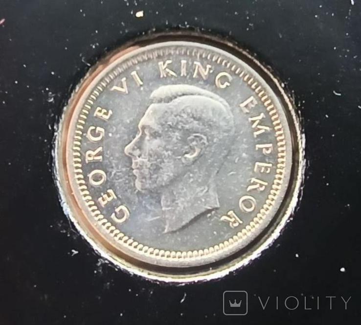 Новая Зеландия 3 пенса 1946,серебро,С103, фото №3