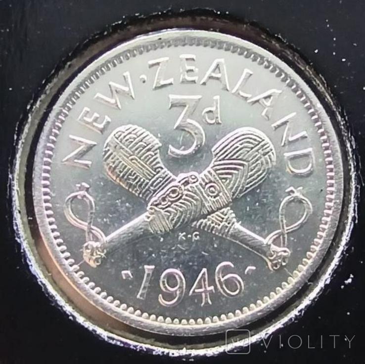 Новая Зеландия 3 пенса 1946,серебро,С103, фото №2