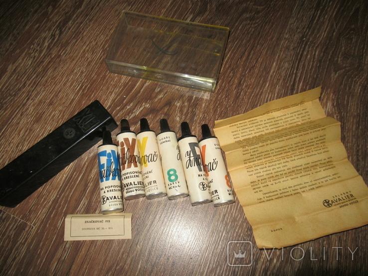 Краски масляные ссср Текстовыделители Чехословакия, фото №12