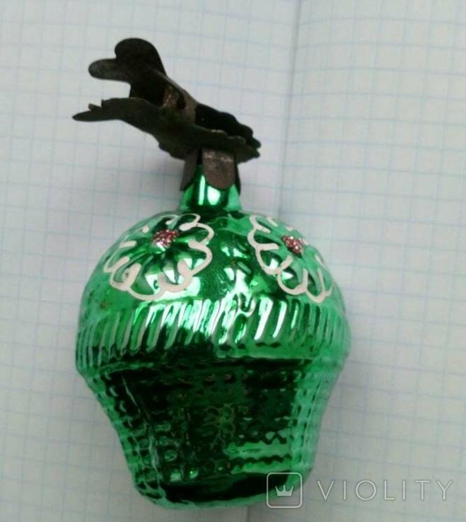 Елочная игрушка Корзина с цветами СССР прищепка, фото №4