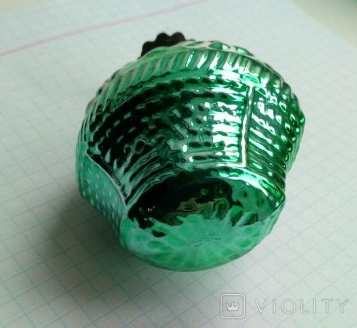 Елочная игрушка Корзина с цветами СССР прищепка, фото №6