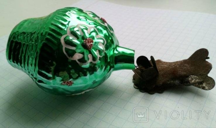 Елочная игрушка Корзина с цветами СССР прищепка, фото №8