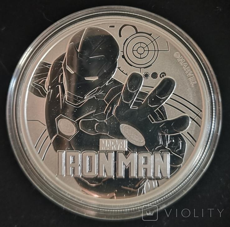 Тувалу Марвел: Железный Человек 2018 серебро 1 унция 999, фото №2