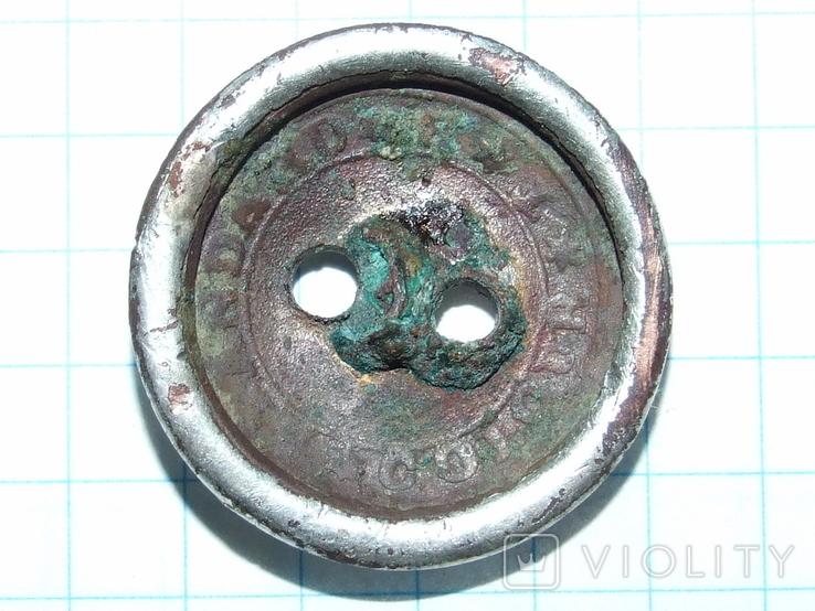 Гражданская пуговица периода РИ Standard Colour TB (тройное серебрение), фото №6