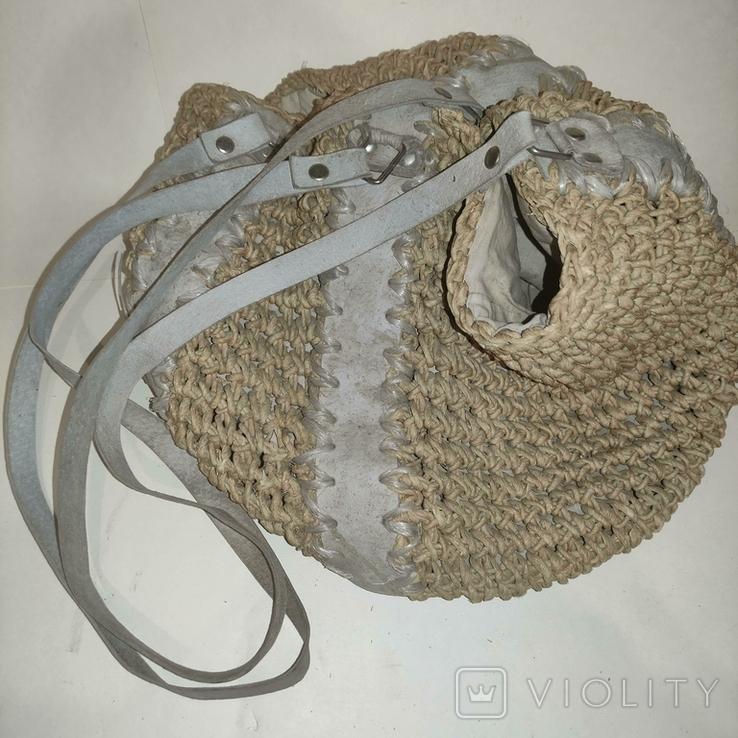 Плетеная сумка, фото №5