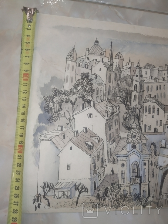 Картина Одесса Графика Мельничук, 28х47 см, фото №11