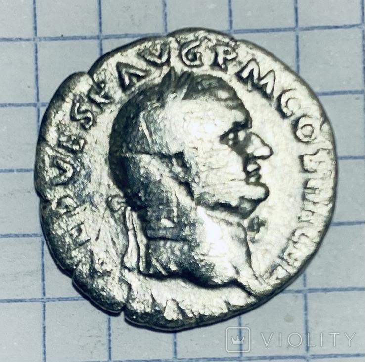 Тит Веспасиан. Денарий, фото №2