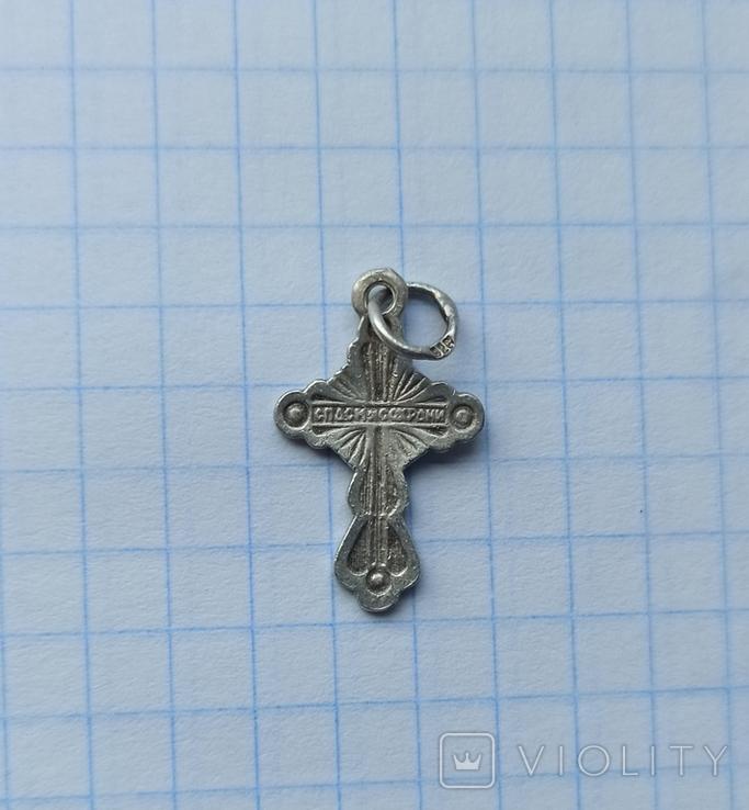 Серебряный крестик 925 проба, фото №3