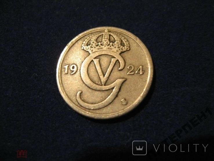 Швеция 10 эре 1924 W, фото №3