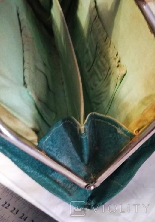 Клатч,цвет зелёный 50-60-е, фото №5