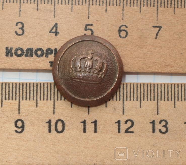 Пуговица с короной . Германия / ПМВ /. производитель : N, фото №2
