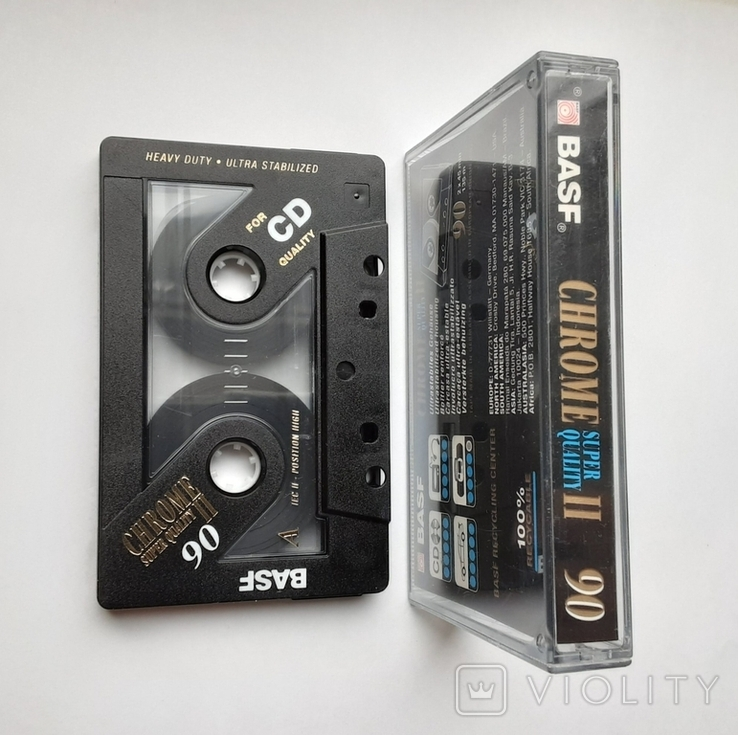 Аудиокассета BASF CHROME II 90, фото №4