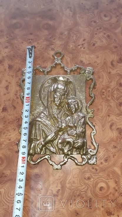 Бронзовая Икона Божья матерь. НИМОР, фото №8