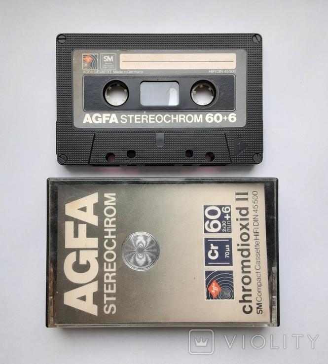 Аудиокассета AGFA STEREOCHROME II 60+6 (Ger), фото №2