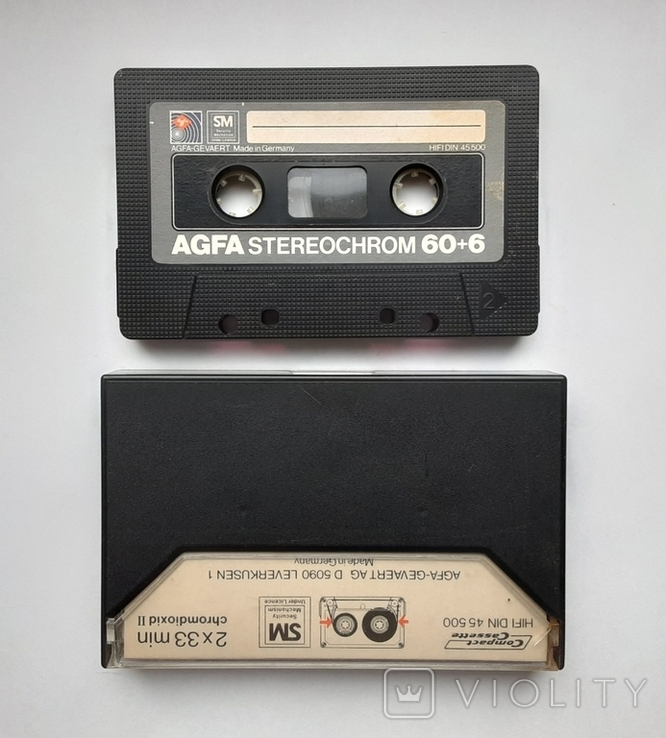 Аудиокассета AGFA STEREOCHROME II 60+6 (Ger), фото №3