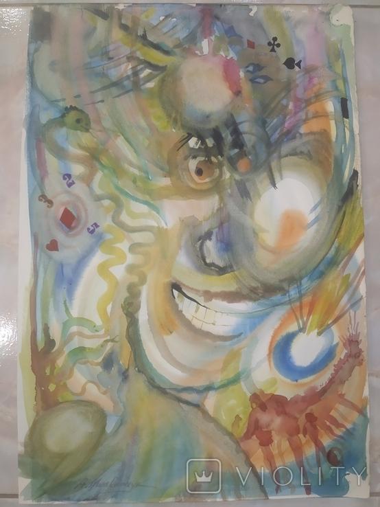 Картина А.Мельничук Азарт акварель 44х30 см, фото №5