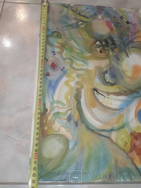 Картина А.Мельничук Азарт акварель 44х30 см, фото №8