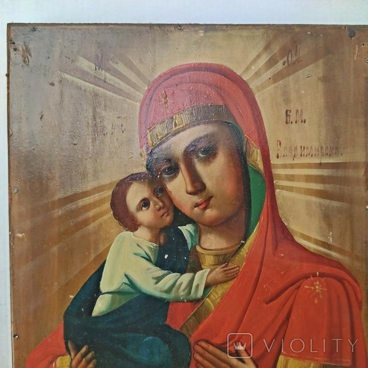 Икона Божья Матерь Владимирская 30 х 22.5 см, фото №3
