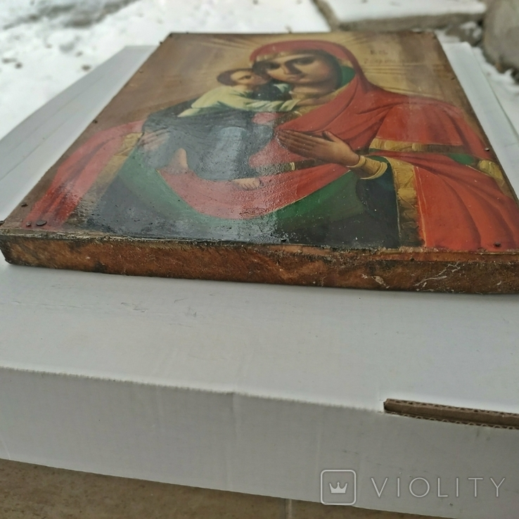 Икона Божья Матерь Владимирская 30 х 22.5 см, фото №12