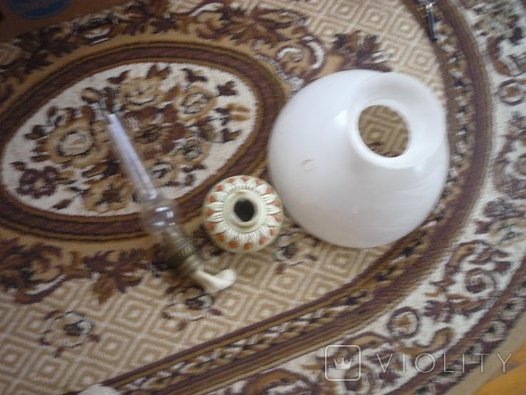 Старая большая чугунная керасиновая люстра австро венгрия, фото №13
