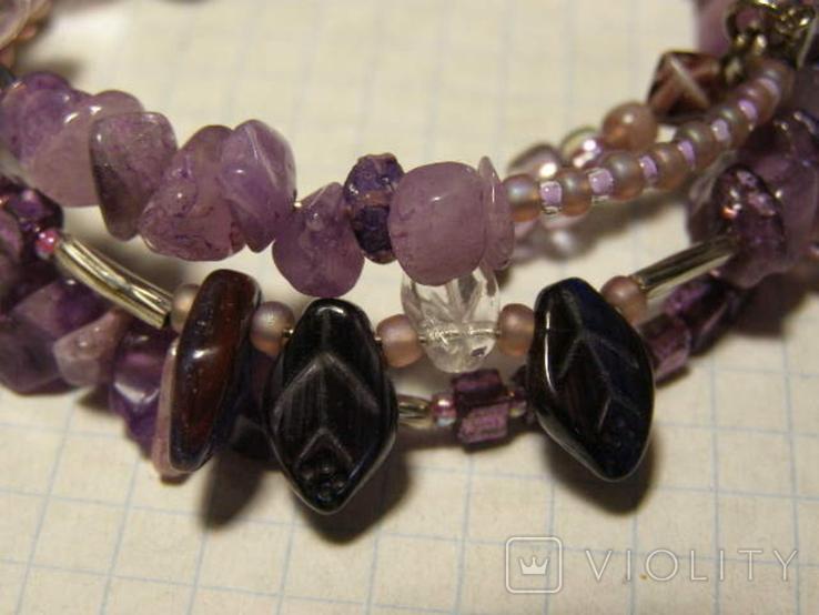 Браслет камни стекло, фото №3