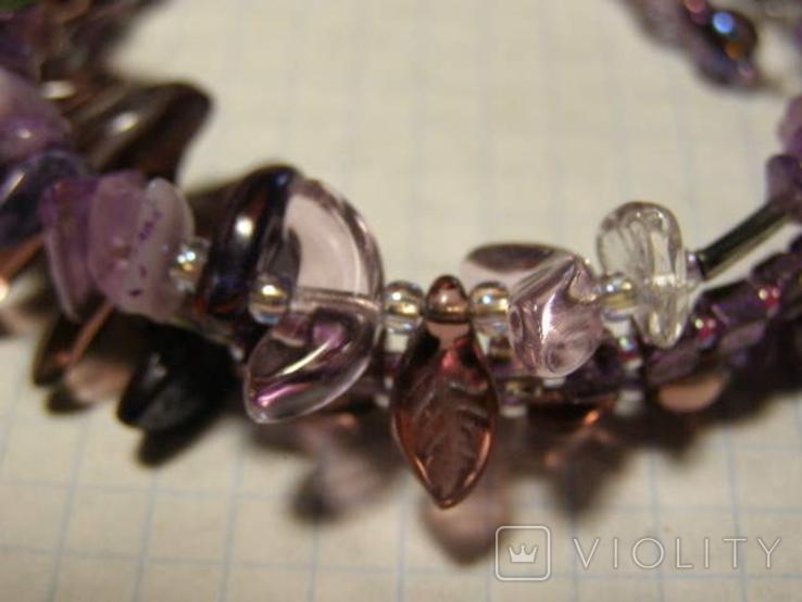 Браслет камни стекло, фото №4