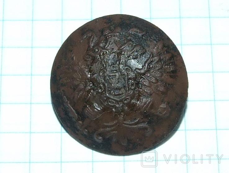 Пуговица с орлом периода РИ, СПБ БР Бух, отличный рельеф, фото №4