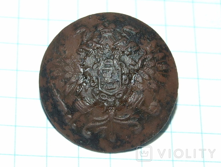Пуговица с орлом периода РИ, СПБ БР Бух, отличный рельеф, фото №6