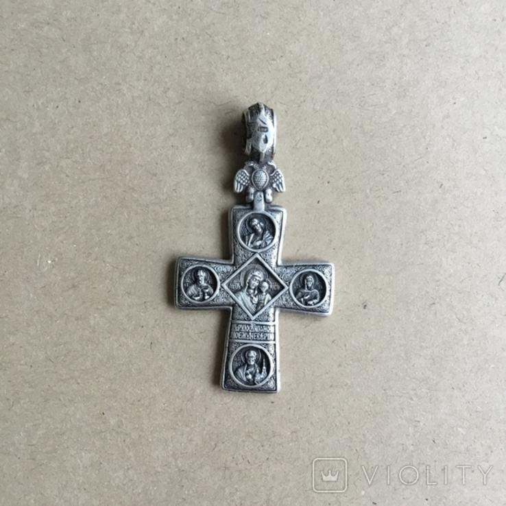Федоровський Срібний натільний хрест (серебрянный крест), фото №2