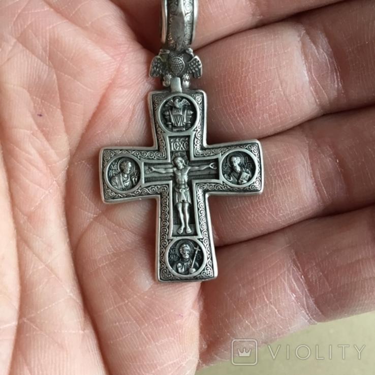 Федоровський Срібний натільний хрест (серебрянный крест), фото №4