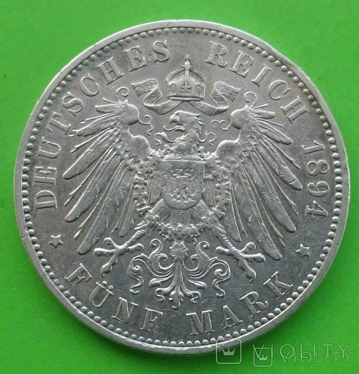 5 марок, 1894 год, Саксония., фото №5
