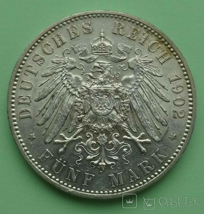 5 марок, 1902 год, Саксоня., фото №5