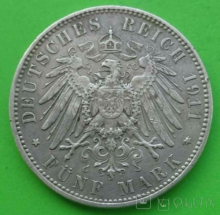 5 марок, Бавария (Германия), 1911 год., фото №5