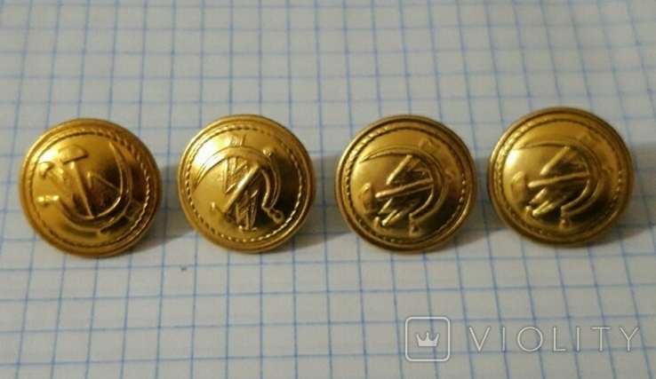 Пуговицы связь почта СССР 1973 новые, фото №2
