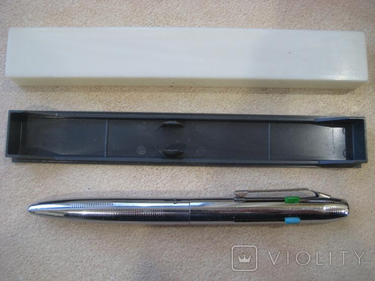 Шариковая ручка на 4 цветных стержня..СССР. Новая., фото №4