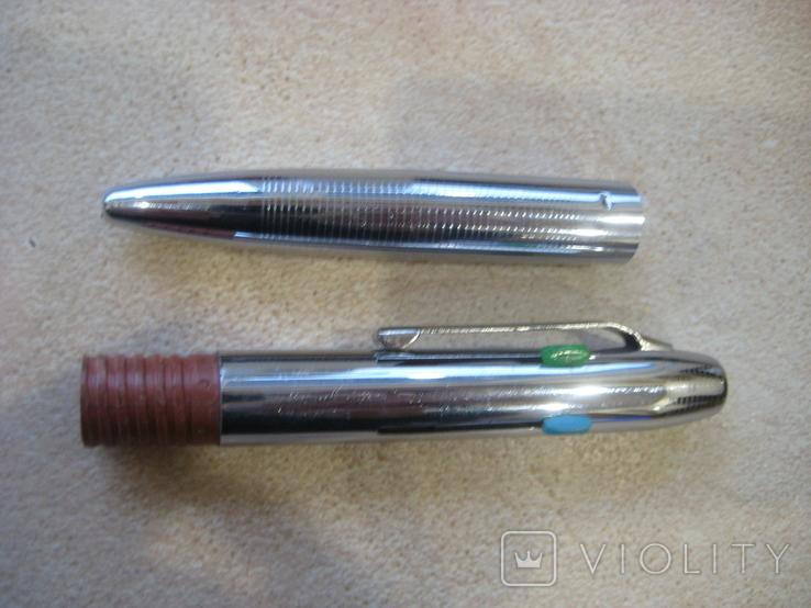 Шариковая ручка на 4 цветных стержня..СССР. Новая., фото №9