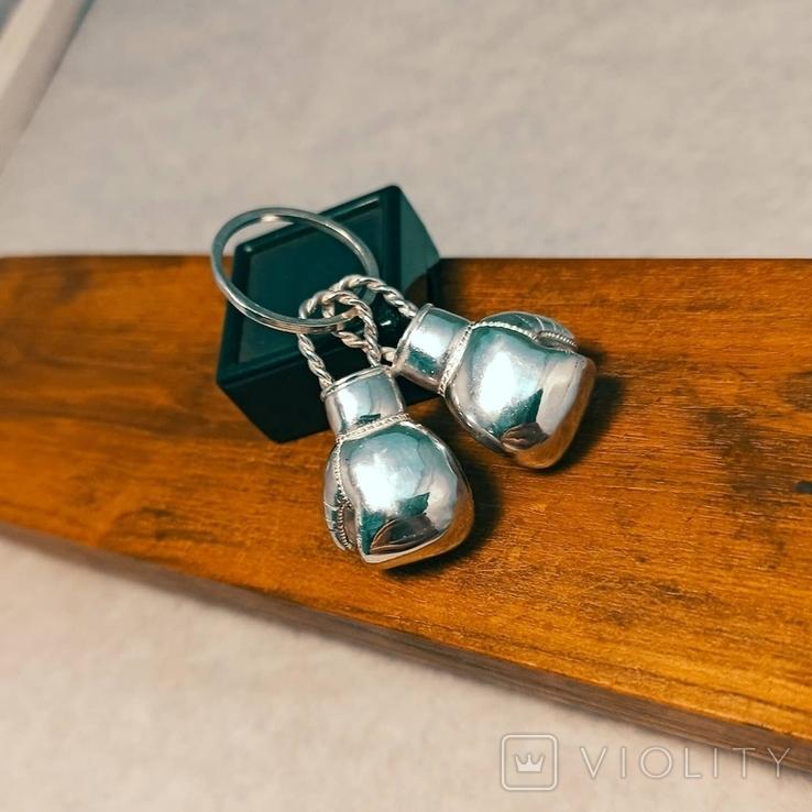 Серебряные боксерские перчатки, фото №5