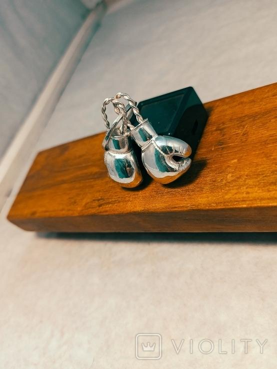 Серебряные боксерские перчатки, фото №8