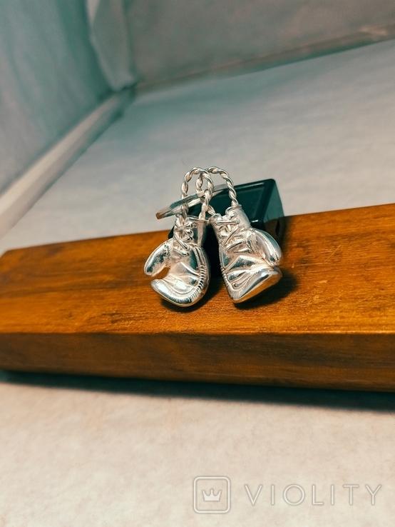 Серебряные боксерские перчатки, фото №11