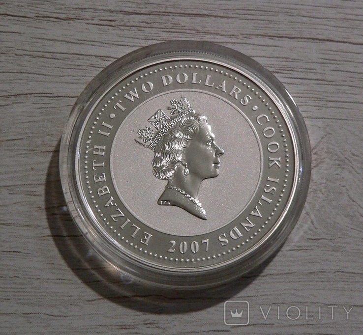 60 лет Автомату Калашникова АК-47 - 2 доллара, серебро 999, унция, фото №3