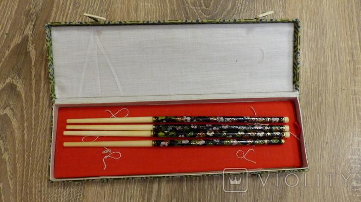 Китайские палочки с эмалями Клуазонне., фото №2