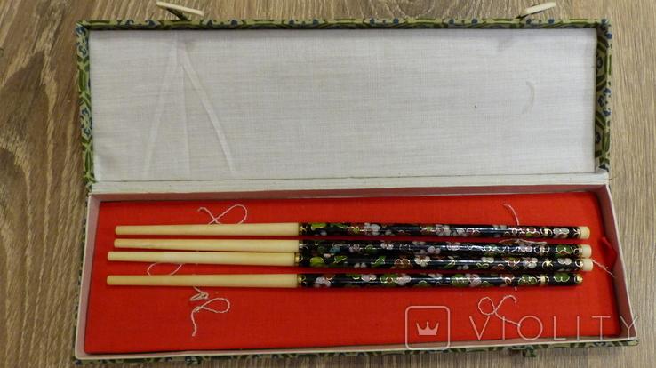 Китайские палочки с эмалями Клуазонне., фото №4