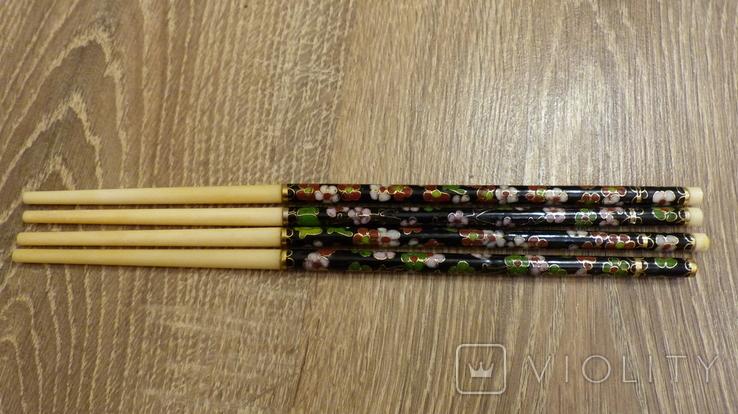 Китайские палочки с эмалями Клуазонне., фото №10