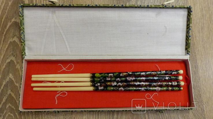 Китайские палочки с эмалями Клуазонне., фото №12