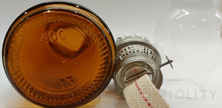 Лампа керосиновая СССР цветное стекло 1970-е годы керосинка, фото №10